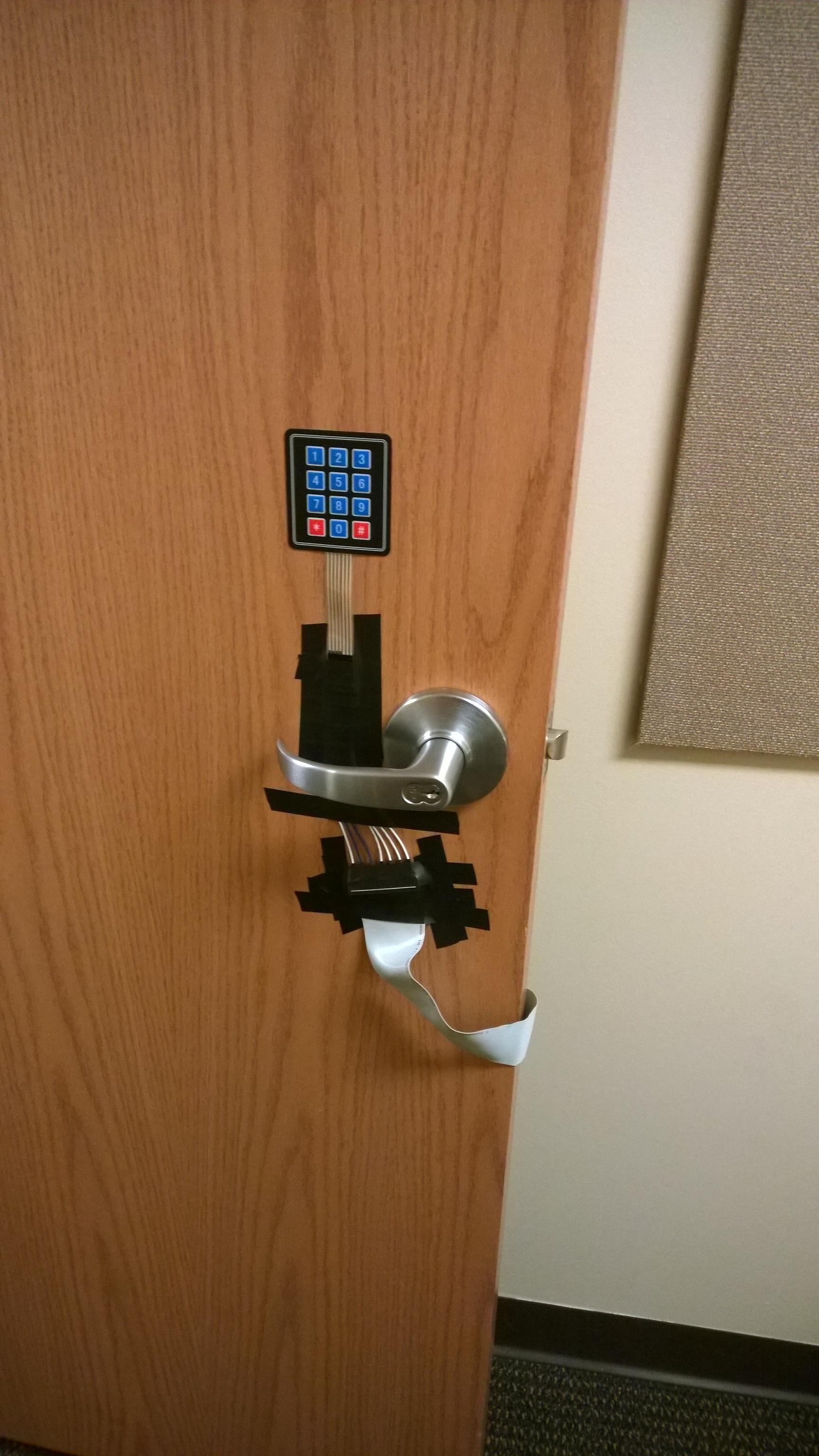 how to change code on keypad door lock